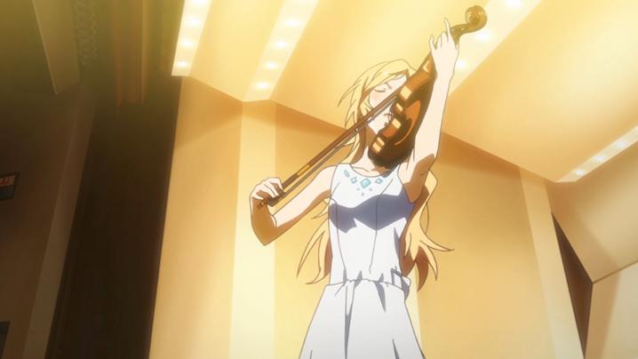 四月は君の嘘のバイオリンを演奏するシーン
